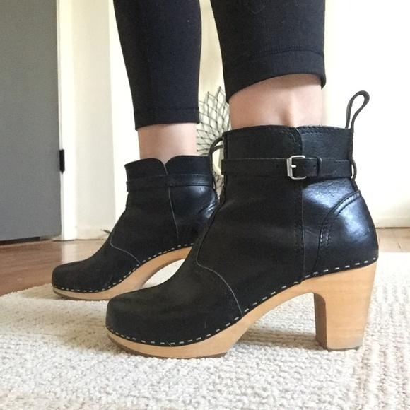 dbc21072b42 Swedish Hasbeens Jodhpur High Heel Black Boots. M 5a7ba72f5512fd39d9c5fdc2